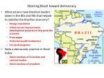 steering brazil toward democracy