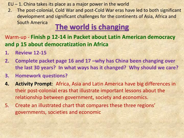 the world is changing n.
