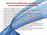 n san mayis haz ran aylar nda toplam 414 personele koah hakk nda h e verilmi tir