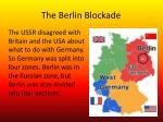 the berlin b lockade