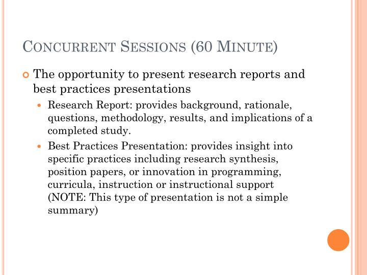 Concurrent Sessions (60 Minute)