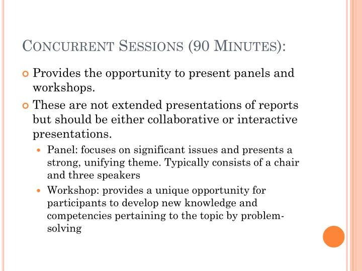 Concurrent Sessions (90 Minutes):