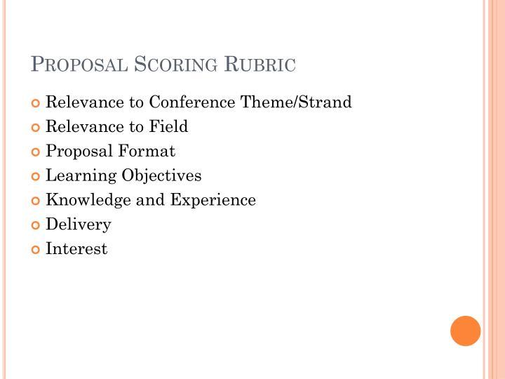Proposal Scoring Rubric