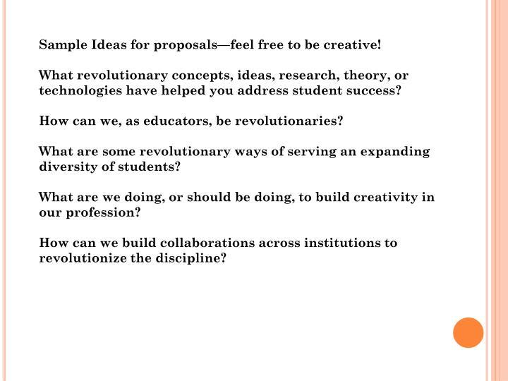 Sample Ideas