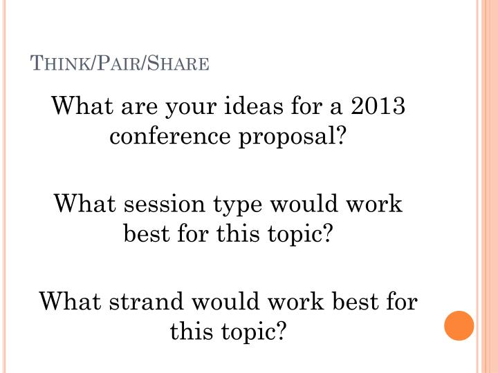 Think/Pair/Share