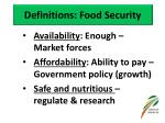 definitions food security