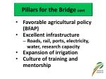 pillars for the bridge cont