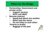 pillars for the bridge