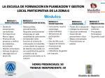 la escuela de formacion en planeacion y gestion local participativa de la zona 6