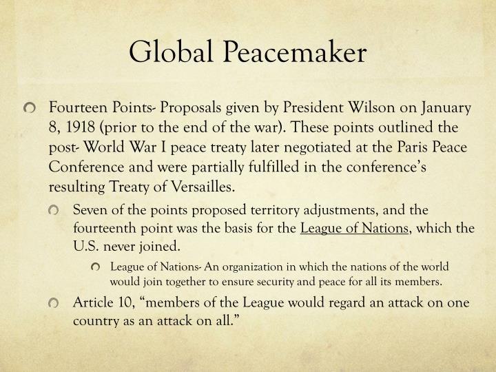 Global Peacemaker
