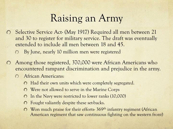 Raising an Army