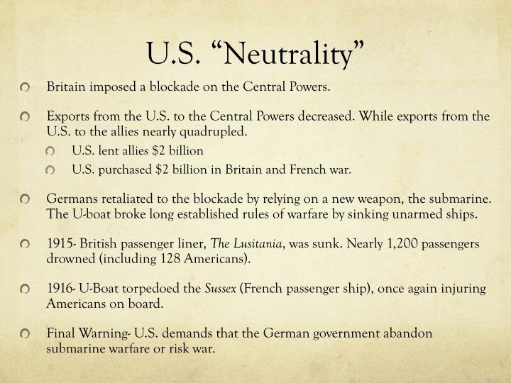 """U.S. """"Neutrality"""""""