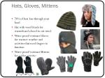 hats gloves mittens