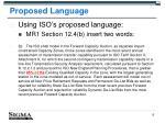 proposed language