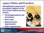 agency policies and procedures