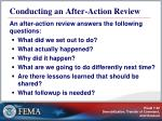 conducting an after action review