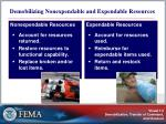 demobilizing nonexpendable and expendable resources