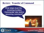 review transfer of command