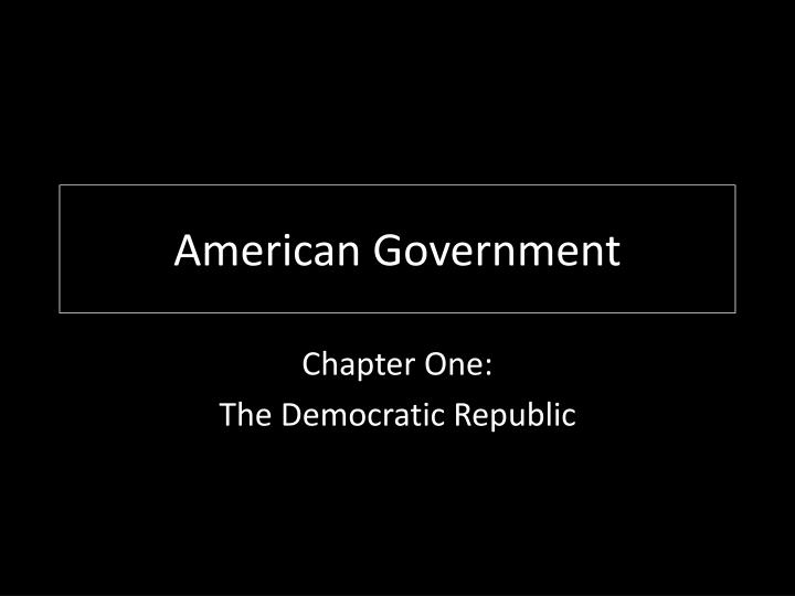 american government n.