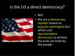 is the us a direct democracy