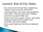 lesson2 rise of city states