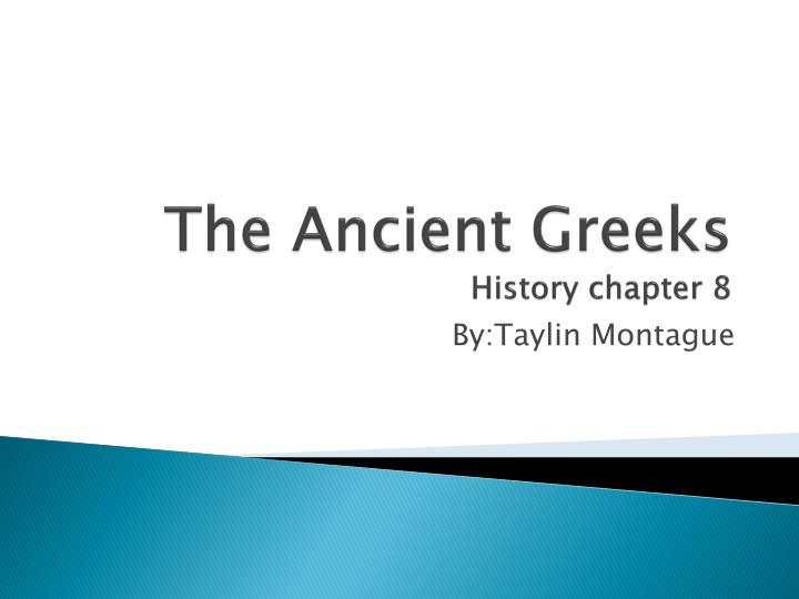 the ancient greeks history chapter 8 n.