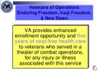 veterans of operations enduring freedom iraqi freedom new dawn