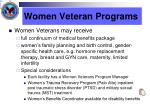 women veteran programs