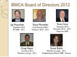bmca board of directors 2012