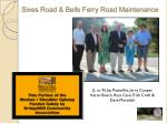 sixes road bells ferry road maintenance