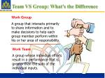 team vs group what s the difference