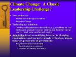 climate change a classic leadership challenge