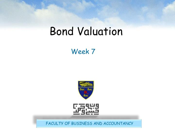 bond valuation n.