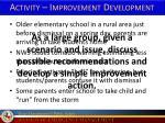 activity improvement development