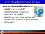 developing improvement actions1