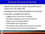 exercise evaluation guides