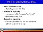 types of observational data