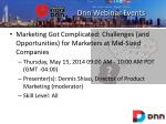 dnn webinar events