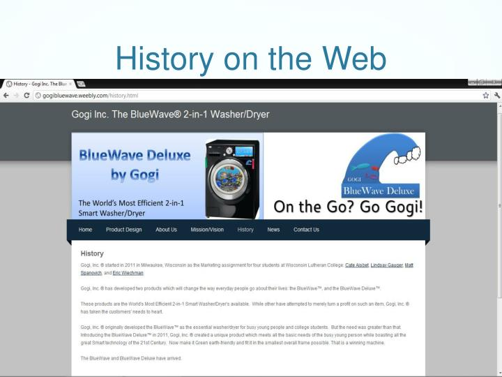 History on the Web