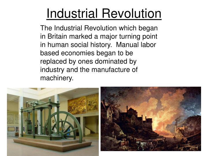 a history of the industrial revolution in britain