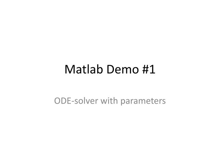 matlab demo 1 n.