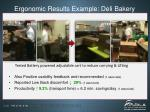 ergonomic results example deli bakery