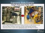 ergonomic study example height adjusted pallet jack