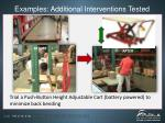 examples additional interventions tested