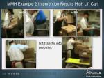 mmh example 2 intervention results high lift cart