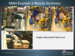 mmh example 3 results summary