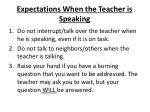 expectations when the teacher is speaking