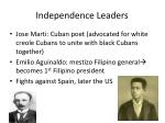 independence leaders