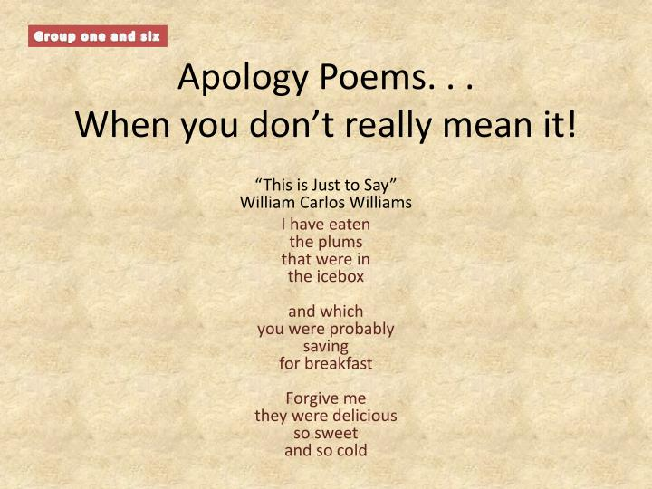 apology poems when you don t really mean it n.