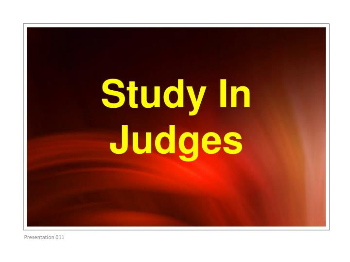study in judges n.